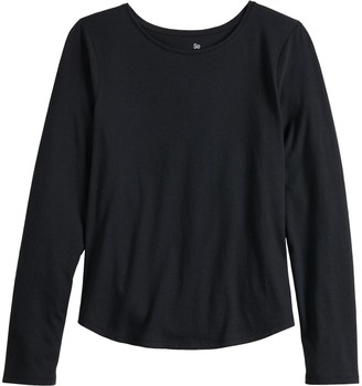 So Girls 4-20 & Plus Size Essential Long Sleeve Tee