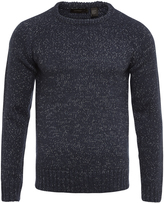 Oxford Matty Crew Neck Knit Ptrl Blu/Wht X
