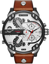 Diesel Men's Chronograph Mr. Daddy 2.0 Brown Leather Strap Watch 57mm DZ7394
