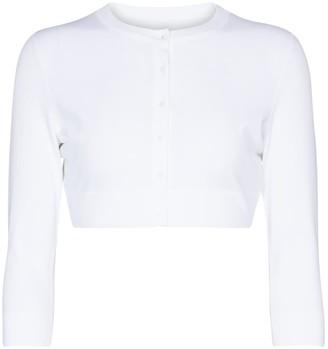 Alaia Cropped stretch-knit cardigan