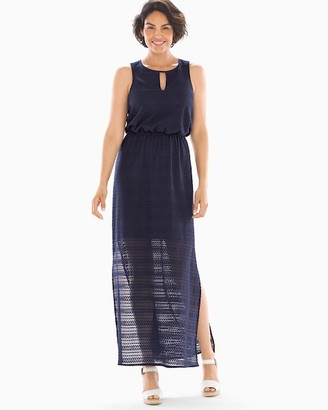 Soma Intimates Lace Maxi Dress Navy