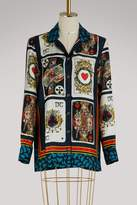 Dolce & Gabbana Cards silk shirt