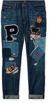 Ralph Lauren 2-6X Astor Patchwork Slim Jean