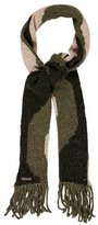 Dolce & Gabbana Striped Tweed Scarf