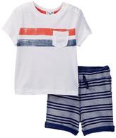 Splendid Pocket Tee & Stripe Short Set (Baby Boys)