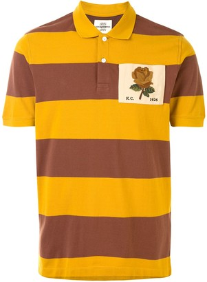 Kent & Curwen Striped Chest Patch Polo Shirt