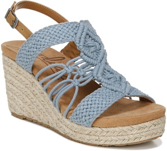 Zodiac Crocheted Slingback Wedges - Palm