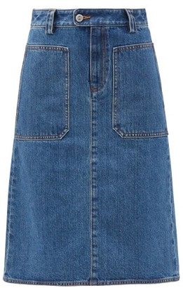 A.P.C. Nevada Patch-pocket Denim Skirt - Denim