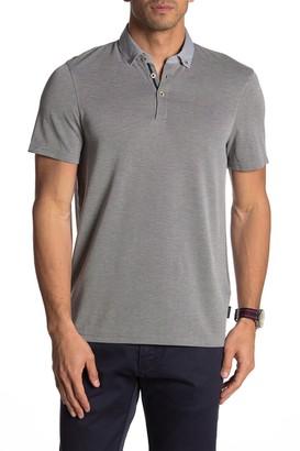 Ted Baker Woven Collar Short Sleeve Polo