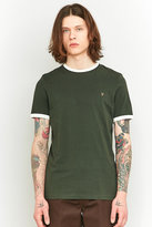 Farah Groves Green And Ivory Ringer T-shirt