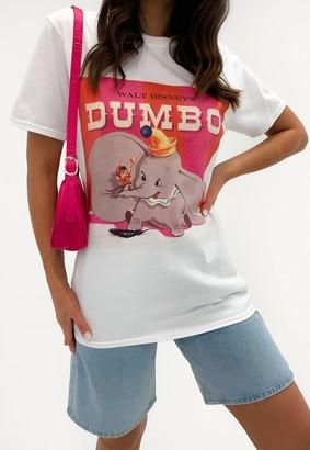 Missguided White Disney Dumbo Graphic T Shirt