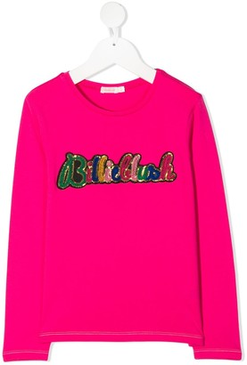 Billieblush sequin-embellished long-sleeved T-shirt
