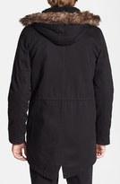 Topman Fishtail Parka with Detachable Faux Fur Trimmed Hood