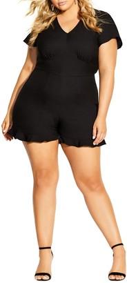 City Chic Short Sleeve Romper