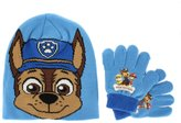 Nickelodeon Paw Patrol Chase Winter Hat And Gloves Set 3+ Blue