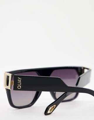 Quay X Saweetie Go Off unisex flatbrow sunglasses in black