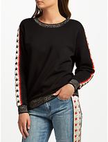 Maison Scotch Star Sweatshirt, Black