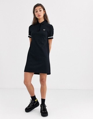 Fred Perry metallic twin tipped polo dress
