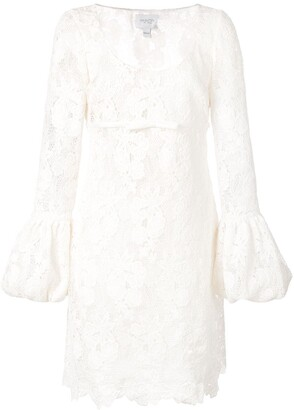 Giambattista Valli Lace Balloon-Cuff Dress