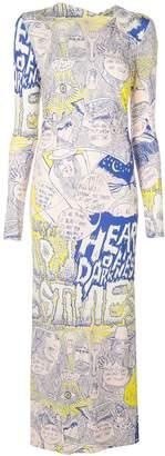 Rachel Comey printed graffiti dress