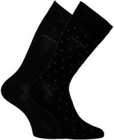 Boss 2 Pack Egyptian Cotton Black Polka Dot Socks
