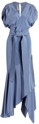 Silvia Tcherassi Protea Dress Stretch-Silk Wrap Dress
