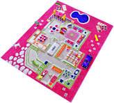 44.5'' Pink Playhouse 3-D Play Mat