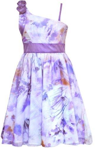 Rare Editions Girls 7-16 Butterfly Print Chiffon Dress