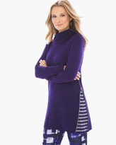 Chico's Violette Stripe-Inset Sweater