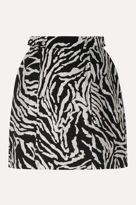 Proenza Schouler Cotton-blend Jacquard Mini Skirt - Black