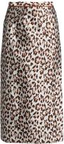 Christopher Kane Leopard-jacquard midi skirt