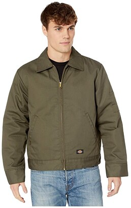 Dickies Insulated Twill Eisenhower Jacket (Black) Men's Coat