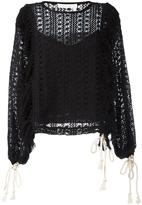 See by Chloe crochet blouse - women - Polyester/Cotton - 36