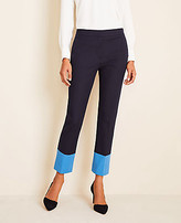 Ann Taylor The Petite High Waist Ankle Pant In Colorblock