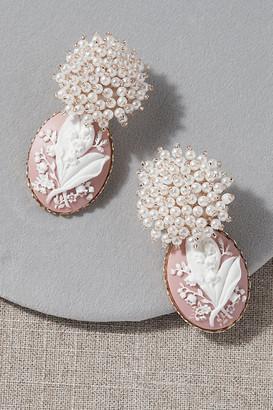 Anthropologie Nicola Bathie Luvelle Earrings By in Pink