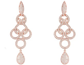 Latelita Celtic Knot Shannon Drop Earrings Rose Gold