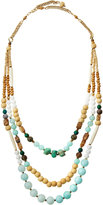 Nakamol Long Triple-Strand Beaded Necklace, Amazonite Mix