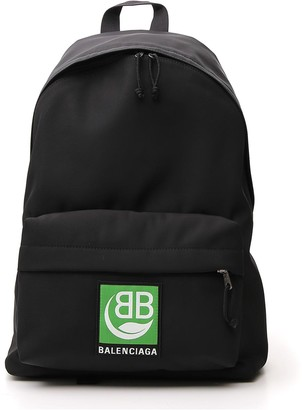 Balenciaga Logo Patch Zipped Backpack