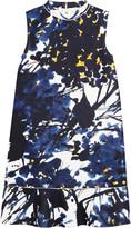 Marni Ruffled printed neoprene dress