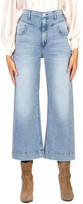 Black Orchid Emma Double-Yoke Wide-Leg Crop Jeans