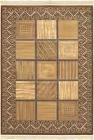 "Ecarpetgallery eCarpet Gallery 103503 Chateau Versailles 5' 7"" x 7' 9"" Wool/Silk Rug, Camel, Light"