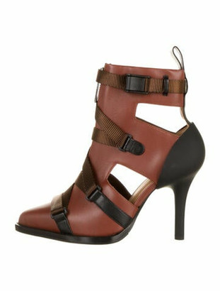 Chloé Tracy Leather Booties Brown