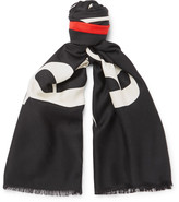 Balenciaga Printed Silk and Wool-Blend Jacquard Scarf
