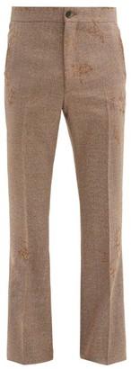 Marni Distressed Tailored Wool-twill Trousers - Grey
