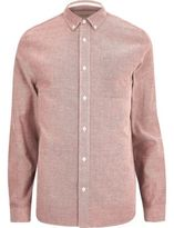 River Island MensRed twill shirt