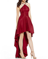 Xtraordinary Y-Neck Long High-Low Dress