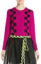 Marc Jacobs Women's Checker Merino Wool Cardigan