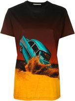 Marco De Vincenzo smashed car print T-shirt - women - Cotton - 40