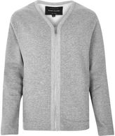 River Island Mens Grey zip-up sweater style cardigan