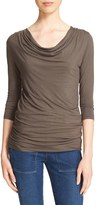 Majestic Filatures Women's Cowl Neck Jersey Top